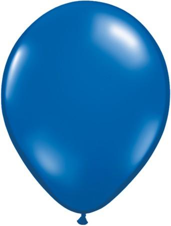 "Qualatex Jewel Sapphire Blue (Blau) 27,5cm 11"" Latex Luftballons"