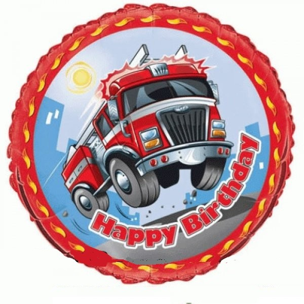 Feuerwehr Folienballon - 45cm