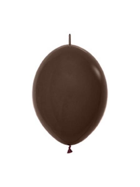 "Link o Loon 076 Fashion Chocolate Brown (Braun) 15cm 6"" Latex Luftballons Sempertex"
