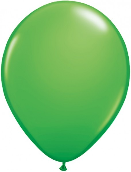Latex Luftballons Fashion Spring Green (Grün) 100St. - 27,5 cm