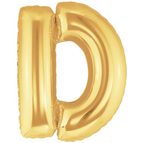 Buchstaben D gold Folienballon