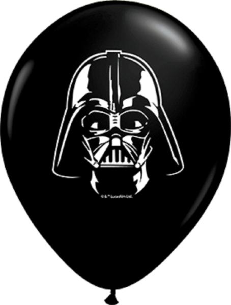 "Star Wars Darth Vader Face 12,5cm 5"" Latex Luftballons Qualatex"