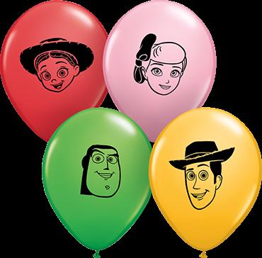 "Disney Pixars Toy Story 4 Faces Special 12,5cm 5"" Latex Luftballons Qualatex"