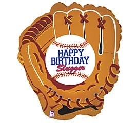 "Baseball Handschuh ""Happy Birthday"" Folienballon - 71cm"