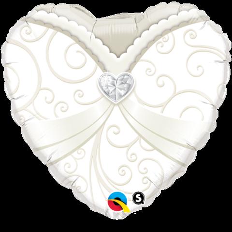 Kleid Herz Hochzeit Folienballon