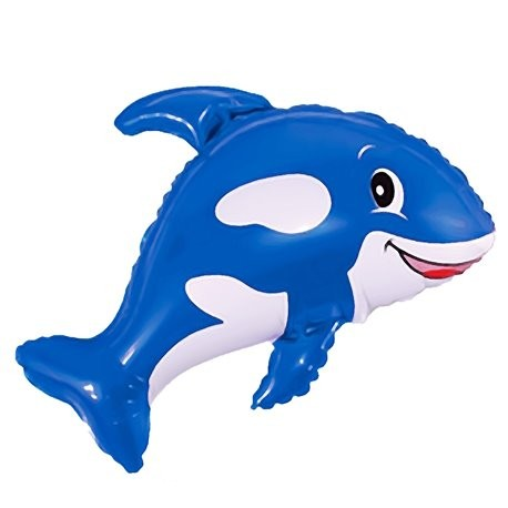 Wal blau Foilienballon - 81m