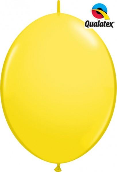 "QuickLink Standard Yellow (Gelb) 30cm 12"" Latex Luftballons Qualatex"