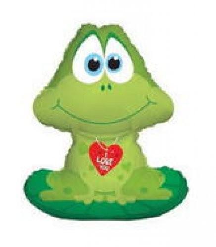 Frosch i love you Folienballon - 83cm