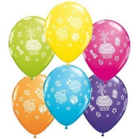 "Cupcakes und Presents 27,5 cm 11"" Latex Luftballons Qualatex"