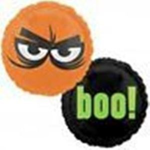Geister Boo Eyes Halloween Folienballon - 46cm
