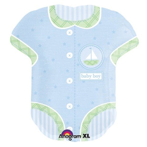 Baby Boy Body blau Folienballon - 79cm
