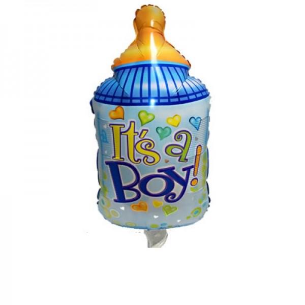 Babyflasche blau Folienballon - 96cm