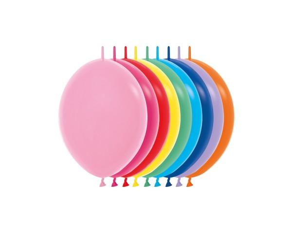 "Link o Loon 000 Fashion Assorted 15cm 6"" Latex Luftballons Sempertex"