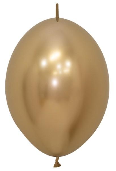 "Link o Loon 970 Reflex Gold 30cm 12"" Latex Luftballons Sempertex"