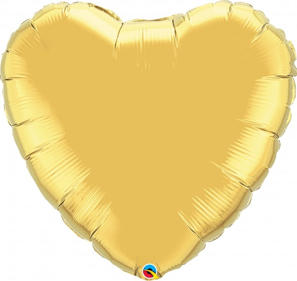 Folienballon Herz Metallic Gold (Gold) - 90cm