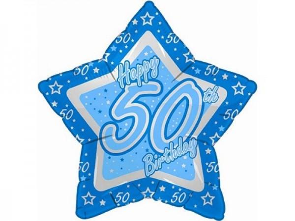 50.Geburtstag Stern Folienballon - 53cm