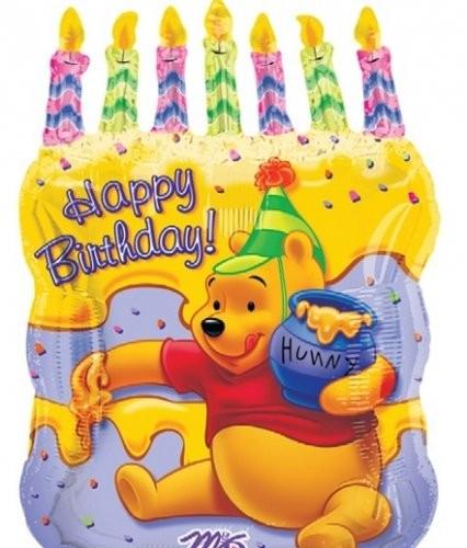 Winnie Pooh Geburtstagskuchen Folienballon - 58cm