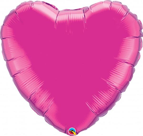 Folienballon Herz Magenta (Pink) - 90cm