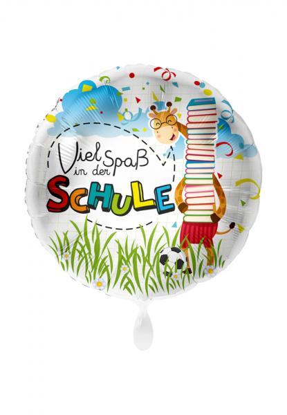 Schulanfang - Viel Spaß In Der Schule (Giraffe) Folienballon 28in / 71cm