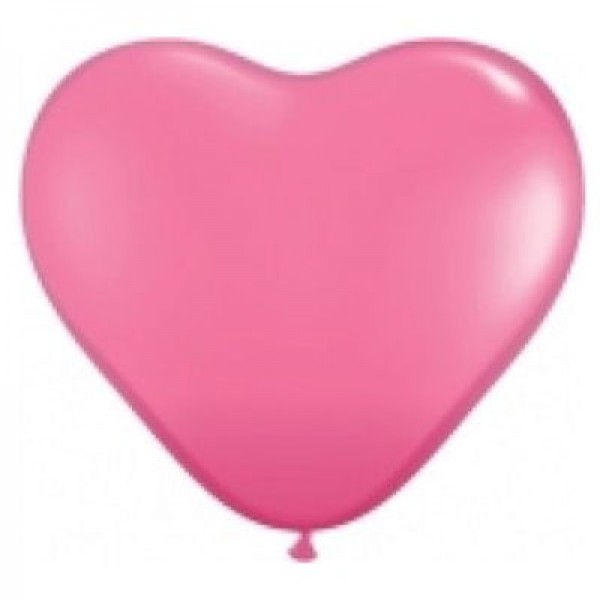 "Qualatex Herz Rose Pink 27,5cm 11"" Ballon"