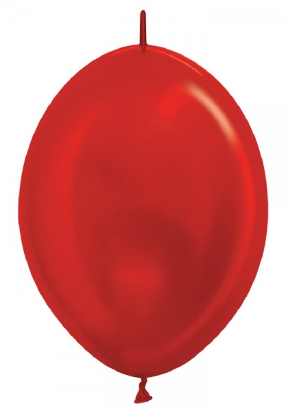 "Link o Loon 515 Metallic Pearl Red (Rot) 30cm 12"" Latex Luftballons Sempertex"