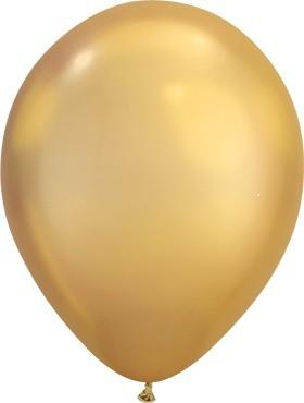 "Qualatex Chrome Gold 27,5cm 11"" Latex Luftballons"