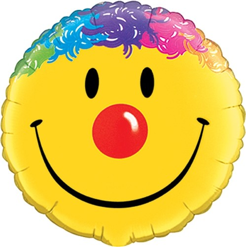 Smiley Clown Gesicht Folienballon - 45cm