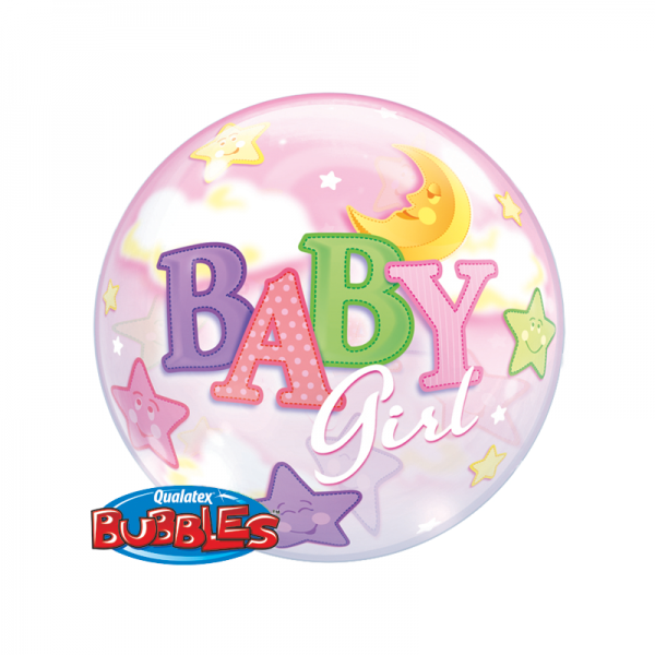 Qualatex Bubble Luftballons Baby Girl - 61cm