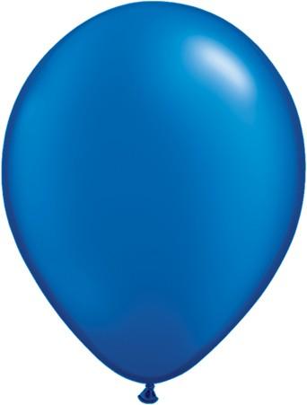 """Qualatex Pearl Sapphire Blue (Blau) 27,5cm 11"""" Latex Luftballons"""