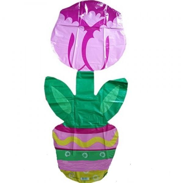 Blume im Topf Folienballon - 114cm