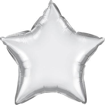 Folienballon Stern Chrome Silver (Silber) - 50 cm
