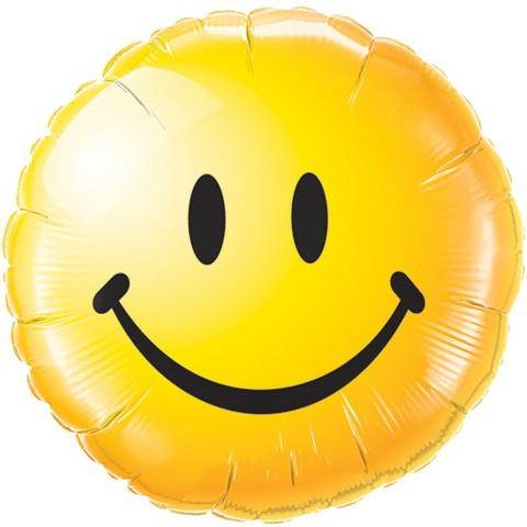 Smiley face gelb Folienballon - 45cm