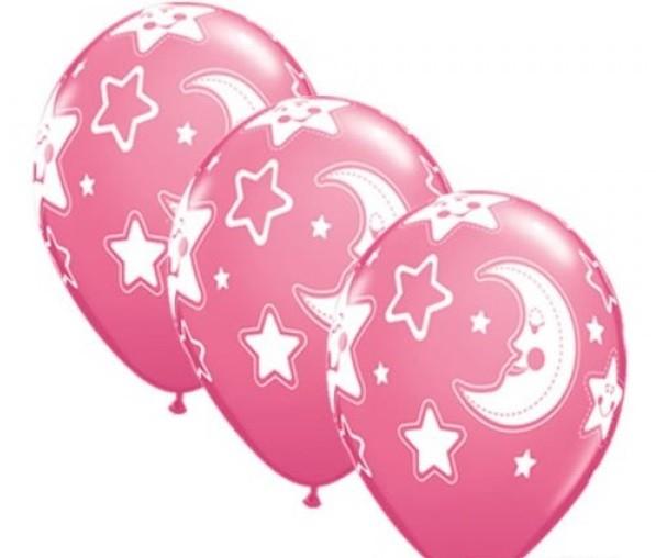 Baby Moon & Star Luftballons - 27,5cm