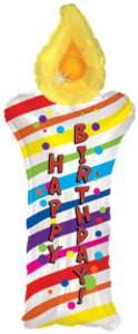 Happy Birthday Kerze Folienballon - 78cm