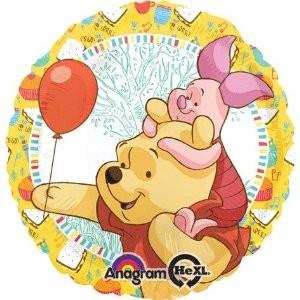 Winnie Pooh und Ferkelchen Party Folienballon - 45cm