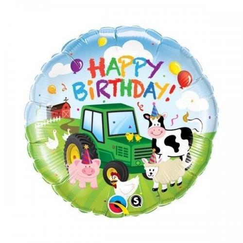Happy Birthday Bauernhof Folienballon - 45cm