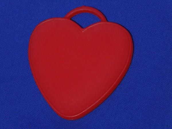 Luftballon Gewicht Herz-förmig in rot