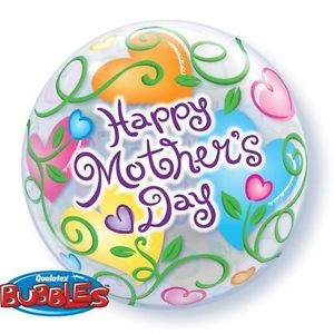 "Qualatex Deco Bubble Muttertag / Happy Mothers Day 22"" 56cm Luftballon"