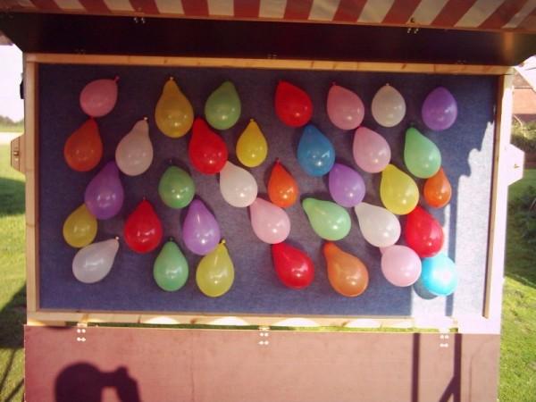 Bunte AbschießLuftballons (Spickerballons) gemischt 12,5cm