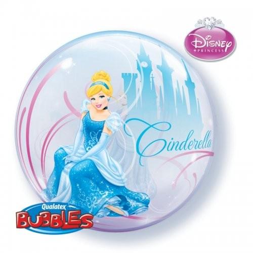 """Qualatex Bubble Cinderella Dream Big 22"""" 56cm Luftballon"""