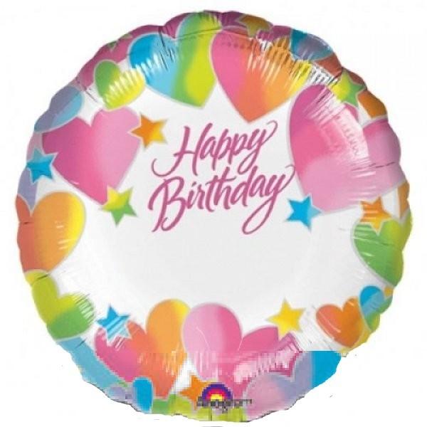 Happy Birthday zum beschriften Folienballon - 45cm