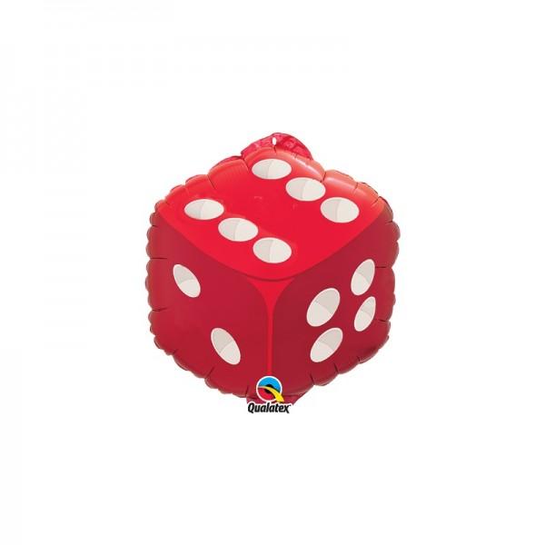 Würfel/ Casino Folienballon
