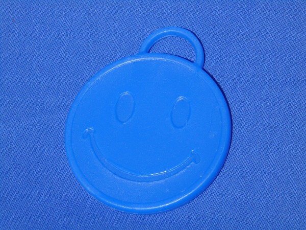 Luftballon Gewicht Smiley rund in blau
