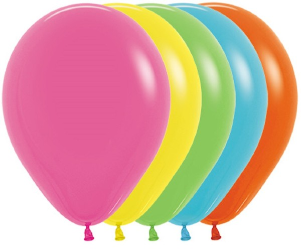 "Sempertex 002 Tropical Assorted 30cm 12"" Latex Luftballons"