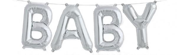 Buchstaben Folienballon Set silber BABY 41cm