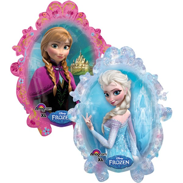 Disney Frozen Elsa und Anna im Spiegel Folienballon - 63x78cm