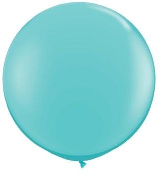 """Qualatex Fashion Caribbean Blue (Blau) 90cm 36"""" Latex Riesenluftballon"""