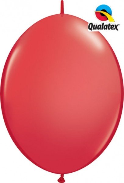 "QuickLink Standard Red (Rot) 30cm 12"" Latex Luftballons Qualatex"