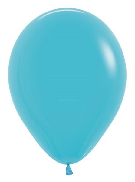 """Sempertex 038 Fashion Caribbean Blue (Blau) 30cm 12"""" Latex Luftballons"""