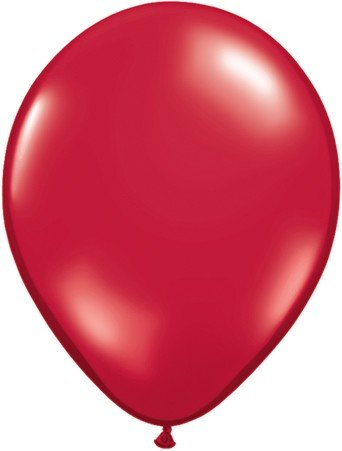 Latex Luftballons Jewel Ruby Red (Rot) 100St. - 27,5 cm